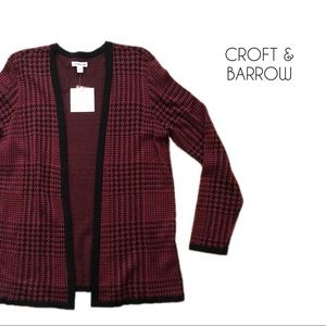 🆕 Croft & Barrow | Red Houndstooth Cardigan